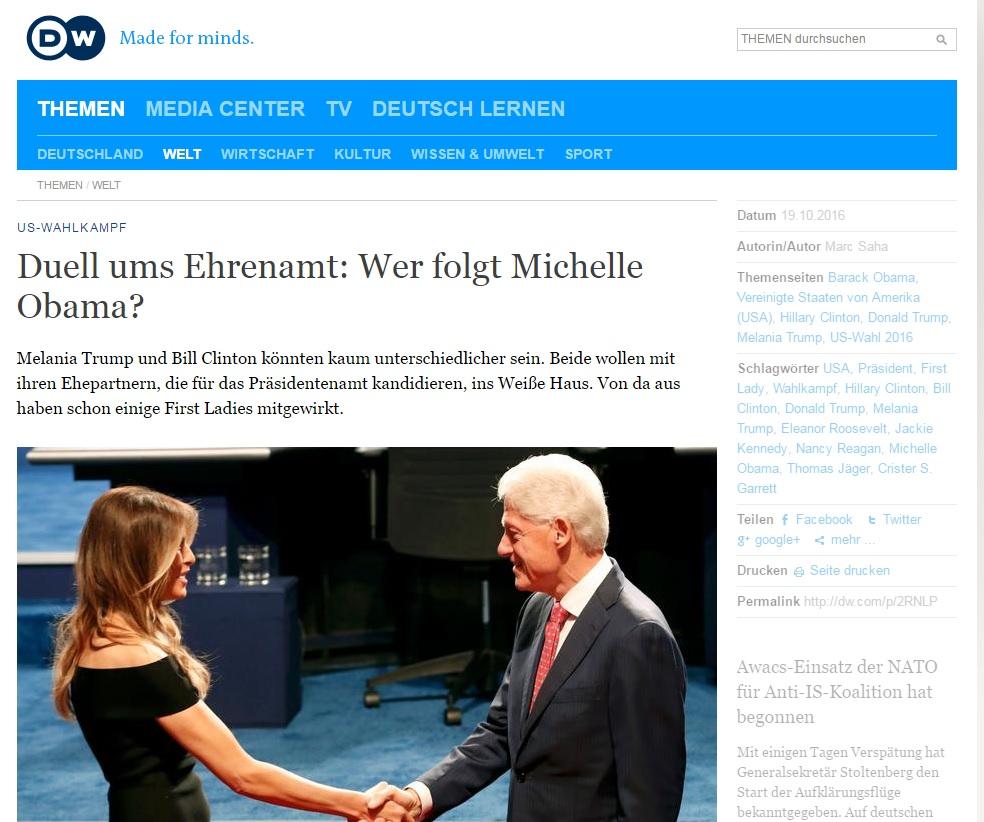 Duell ums Ehrenamt: Wer folgt Michelle Obama?